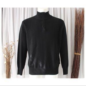 Hugo Boss Men's Black Turtleneck Sweater